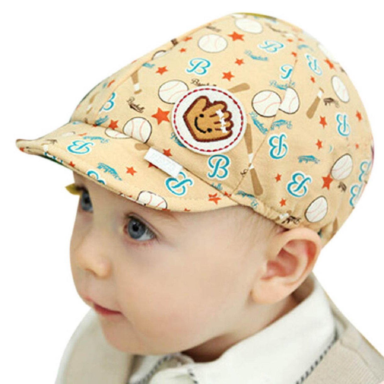 Lookatool Baby Boy Girl Kid Toddler Infant Hat Peaked Baseball Beret Cap (Yellow)