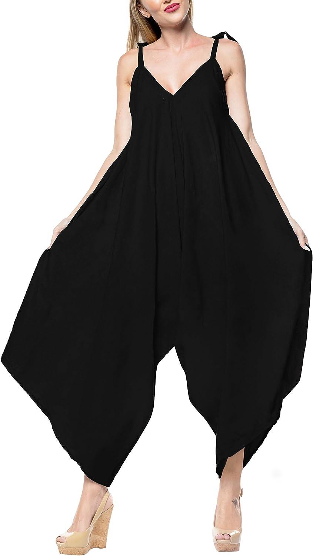 LA LEELA Women/'s Loose Pants Jumpsuit Cami Rompers Playsuit US 14-16W Pink/_C114