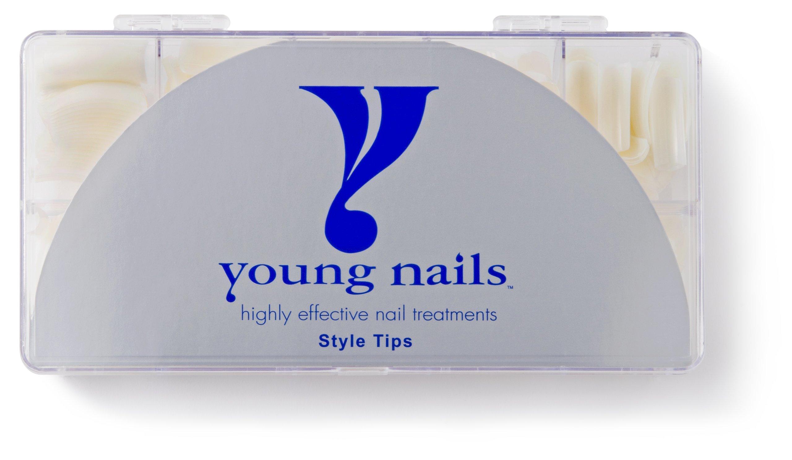 YOUNG NAILS False Nail Tips, Natural, 180 g. by Young Nails