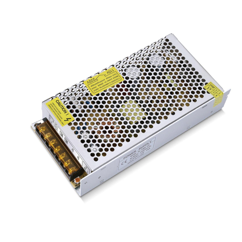 GHB 12V 15A 180W Transformador de Potencia, Transformador de Voltaje, Fuente de Alimentación para