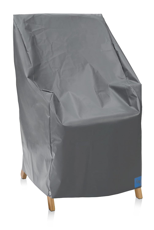 Eigbrecht 140101 Robusta Abdeckhaube Schutzhülle für Hochlehner stapelbar grau 70x80x67 120cm
