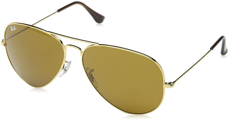 Ray-Ban Unisex-Adults Aviator Sunglasses, Gold (001 33), 62 mm   Amazon.co.uk  Clothing fd254b129a6b