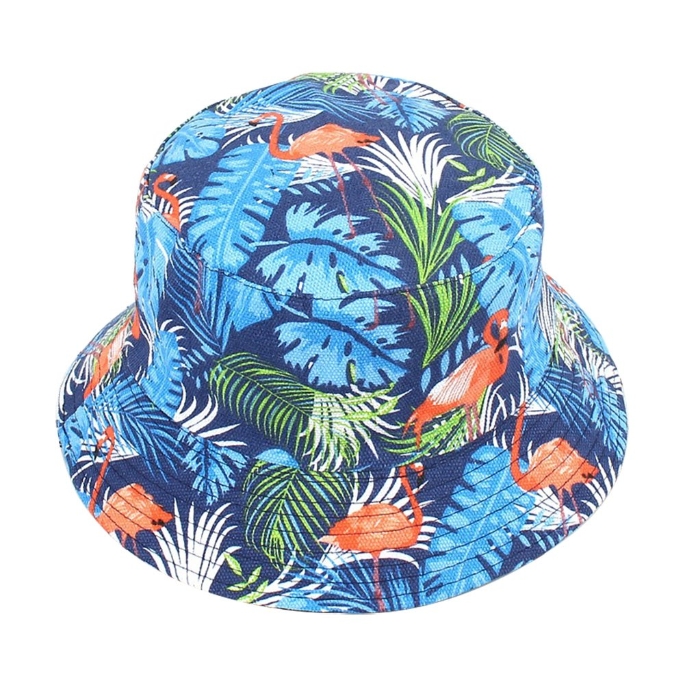 Cdet 1X Camouflage Hat Rounded Flamingo Banana Leaf Fisherman Sun Protection Hat Men Women for Outdoor Climbing Jungle Tactics Cap