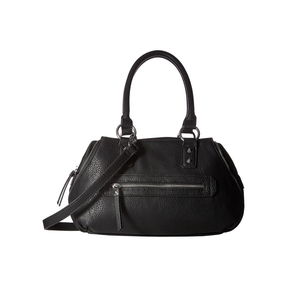 Jessica Simpson Women's Marley Crossbody Satchel Black Handbag