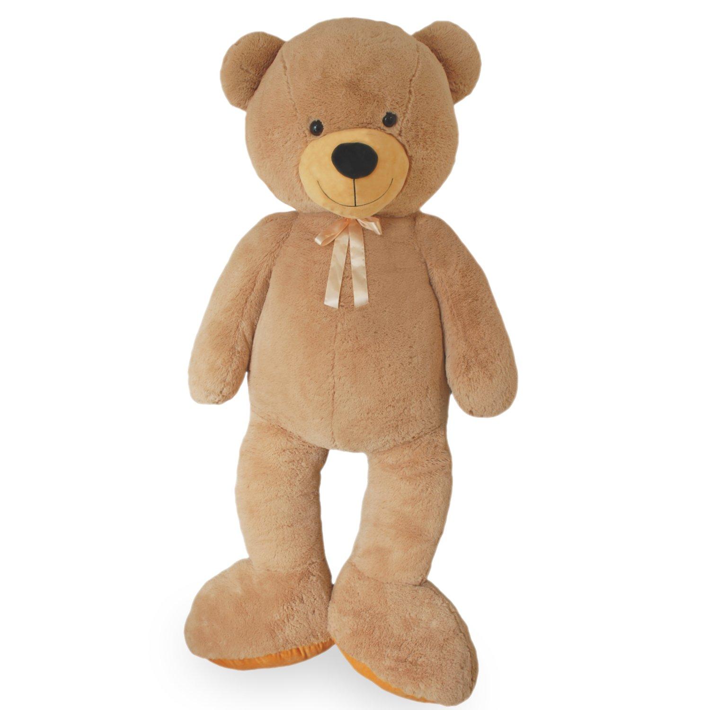 VERCART Riesen Teddybär Kuschelbär XXXL 200 cm groß Plüschbär Kuscheltier samtig Weißh - zum liebhaben