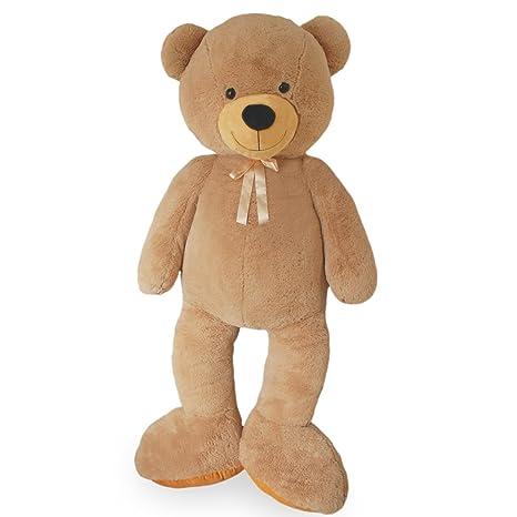 VERCART Riesen Teddybär Kuschelbär XXXL 200 cm groß Plüschbär Kuscheltier samtig weich - zum liebhaben