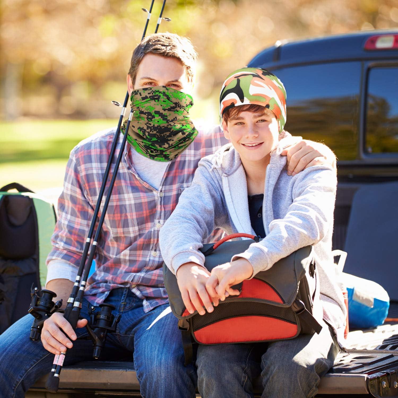 SATINIOR 8 Pieces Sun Protection Neck Gaiter Breathable Bandana Headwrap Balaclava Unisex Face Cover Scarf for Outdoor Sports