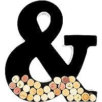 Wine Cork Holder - Metal Monogram Letter (&), Black, Large | Wine Lover Gifts, Housewarming, Engagement & Bridal Shower…