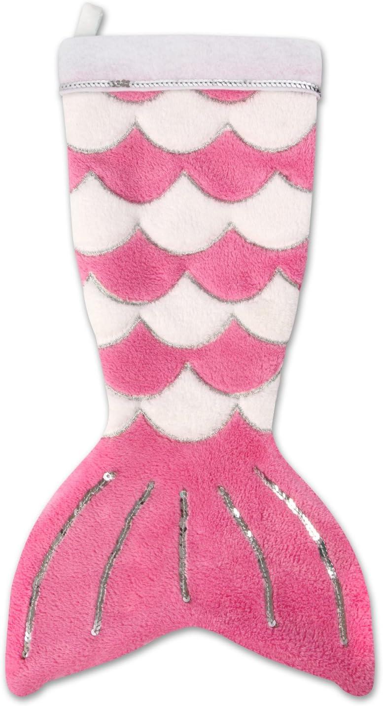 Fin Fun Mermaid Tail Christmas Stocking - Pink