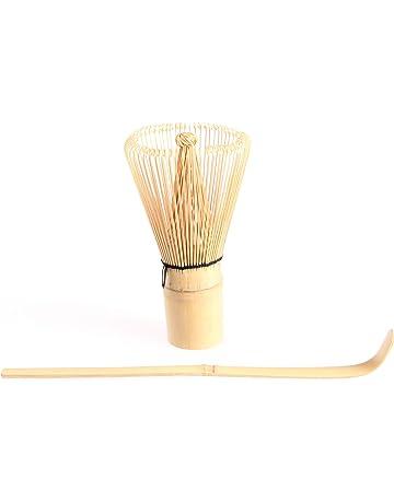 Kit utensilios para té Matcha: Batidor de bambú Chasen con cuchara Chashaku