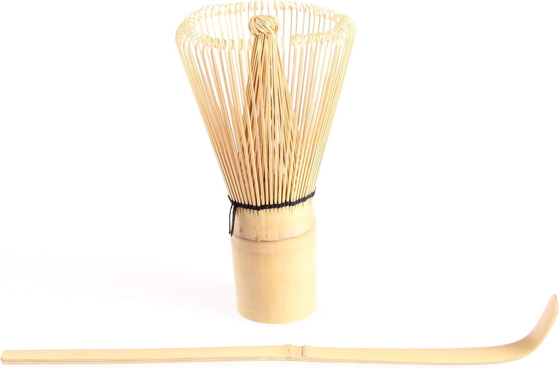 Goodwei Kit Utensilios para té Matcha: Batidor de bambú Chasen 80 Varillas con Cuchara Chashaku