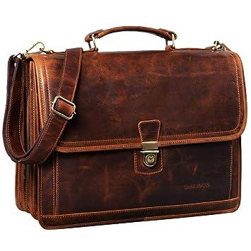 STILORD Thaddäus Maletín Vintage Bolso de Cuero Grande para Hombre Bolso de Negocios Clásico