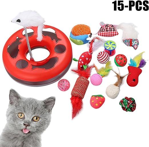 Legendog 15 Piezas Tipos De Juguetes para Gatos Juguete De Peluche De Gato Mascota De Peluche Juguete De Peluche Gato Bola: Amazon.es: Productos para mascotas
