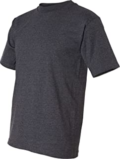 product image for Bayside USA-Made 50/50 Short Sleeve T-Shirt. 1701-Charcoal Heather