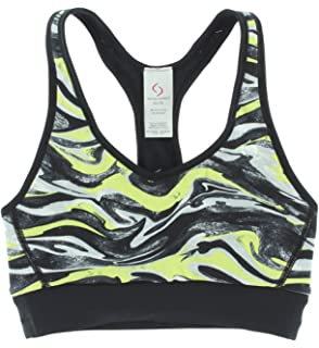 Moving Comfort Womens Switch It up Racer Sports Bra Black