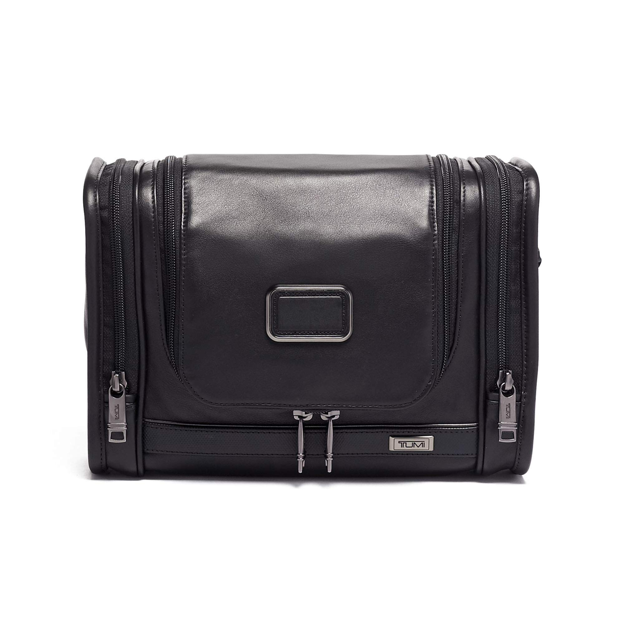 TUMI - Alpha 3 Hanging Leather Travel Kit - Luggage Accessories Toiletry Bag for Men and Women - Black by TUMI