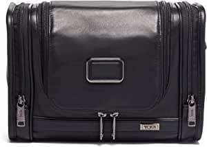 TUMI - Alpha 3 Hanging Leather Travel Kit - Luggage Accessories Toiletry Bag for Men and Women - Black