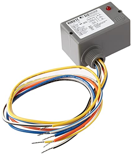 functional devices ribu1c enclosed pilot relay, 10 amp spdt with 10functional devices ribu1c enclosed pilot relay, 10 amp spdt with 10 30 vac dc 120 vac coil security and surveillance products amazon com industrial \u0026