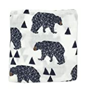 Ultra Soft Muslin Swaddle Blankets Premium Receiving Blanket for Boys & Girls 47  x 47