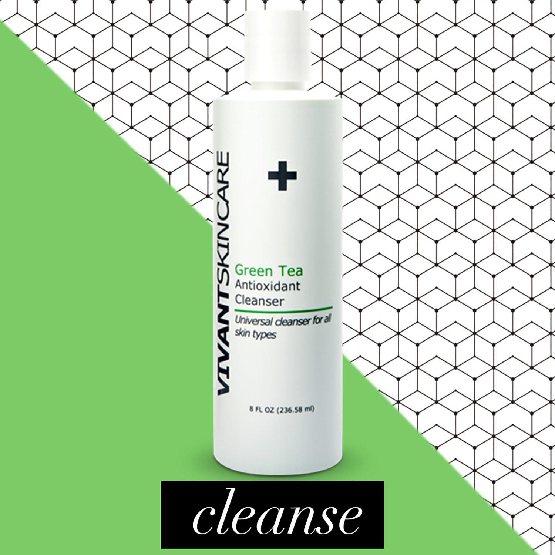 Vivant Skin Care Green Tea Antioxidant Cleanser, 8 Ounce