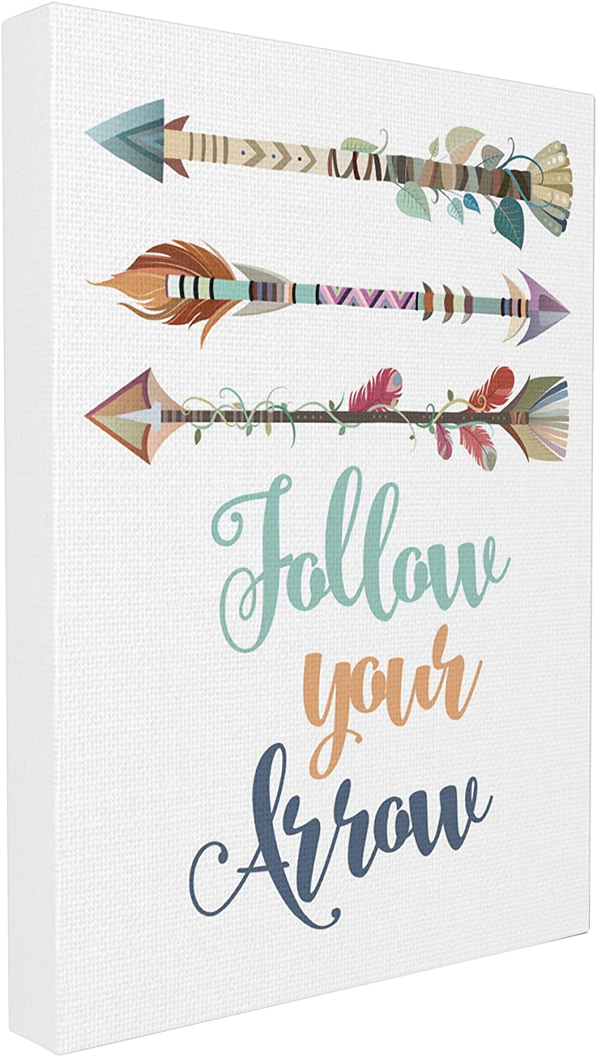 Stupell Industries Follow Your Arrows Canvas Wall Art, 16 x 20, Multi-Color