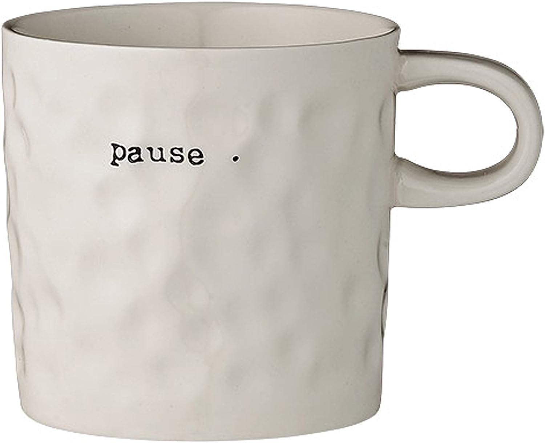 White Bloomingville A75200113 Stoneware Pause Mug