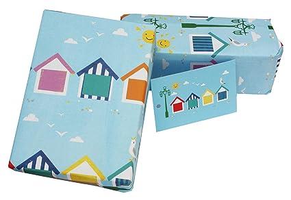 Vicky Scott - Papel de regalo de cumpleaños ecológico, diseño de casetas de playa (