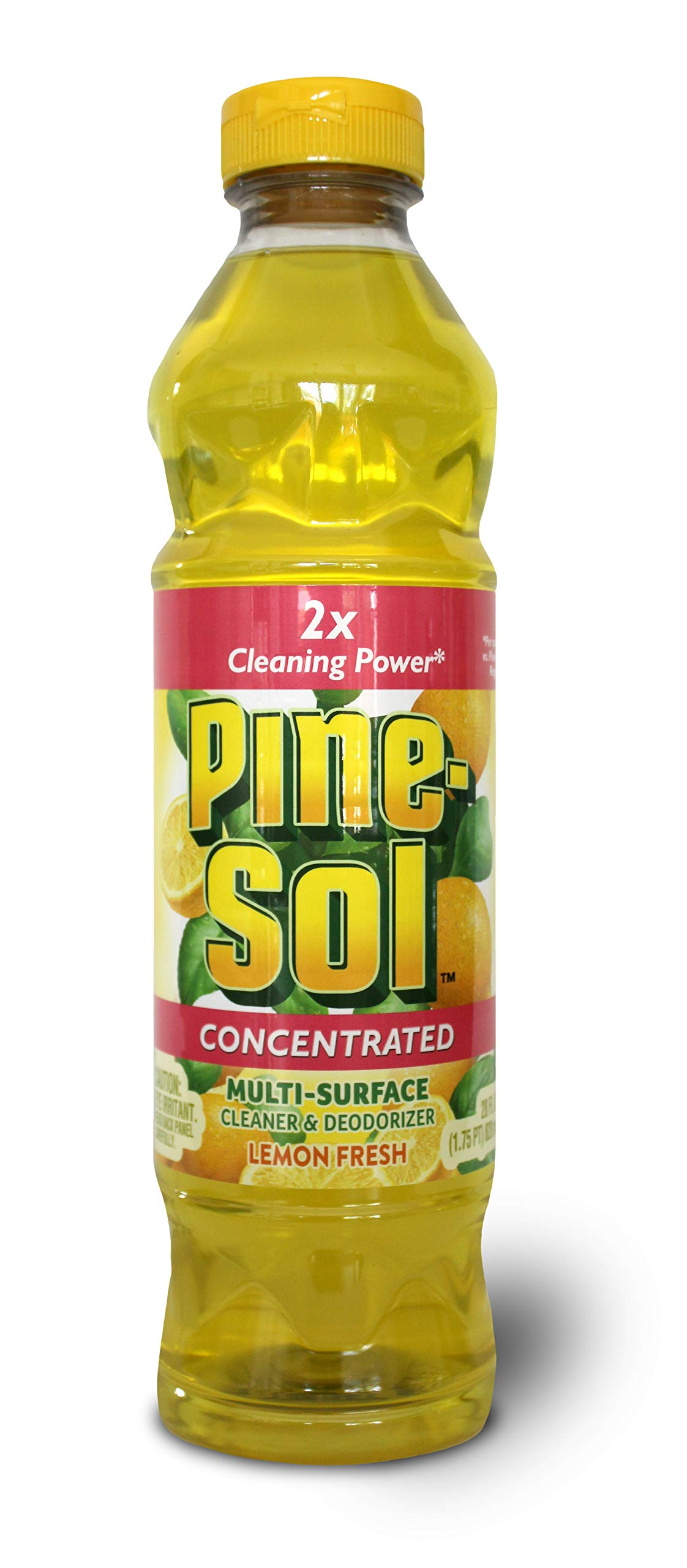 Pine Sol Concentrated Multi-Surface Cleaner and Deodorizer, Lemon Fresh Scent, 2 Count, 56 ounces Total