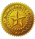 """Great Papers! Starburst Embossed and Gold Foil Certificate Seal, 1.75"""", 48 Count (903419)"""