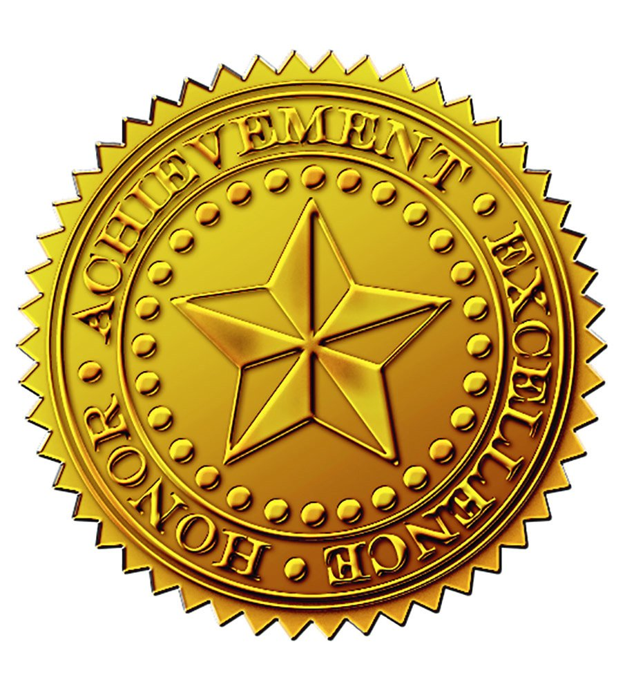 seal gold certificate seals foil embossed award certificates starburst crest count papers classic paper clipart awards stickers covers border blank