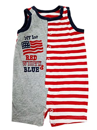 eKooBee Infant Baby Boys Rompers 4th of July National Day One Piece  Jumpsuits