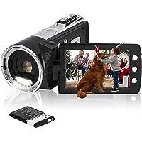 """HG8162 digitale videocamera 1080P FHD camcorder / 2,7"""" TFT LCD-flipscherm / 270 graden draaibare camcorder voor kinderen…"""