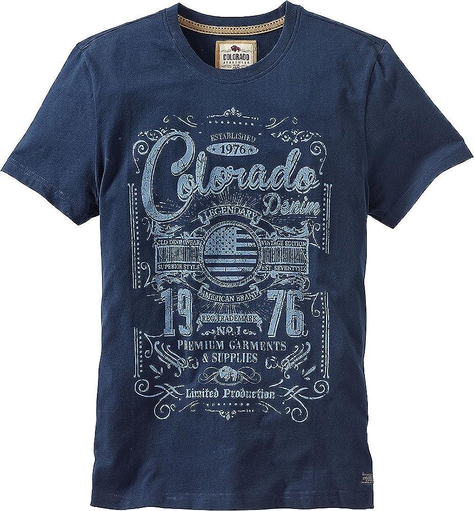 Colorado - Camiseta - para hombre azul XXX-Large: Amazon.es: Ropa y accesorios
