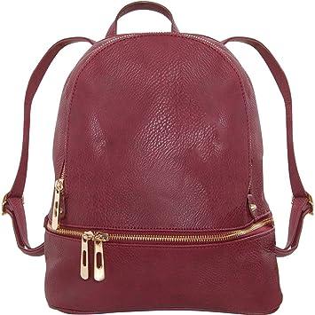 85c75ebf0 Amazon.com | Humble Chic Vegan Leather Backpack Purse Small Fashion Travel  School Bag Bookbag, Burgundy, Dark Red, Oxblood | Kids' Backpacks