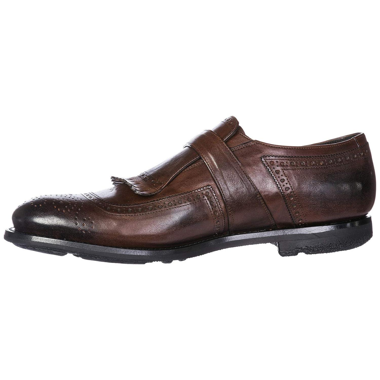 Church's Herren Leder Formal Business Business Business Slipper Schuhe Monkstrap Braun 2ac270