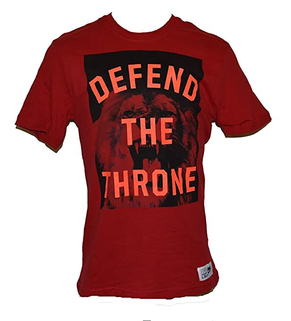 875af920 Nike Men's Lebron James Defend The Throne Organic Cotton T-Shirt X-Large Red