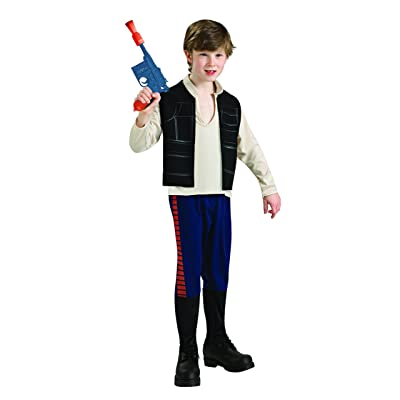 Rubie's Star Wars Classic Child's Han Solo Costume, Medium: Toys & Games
