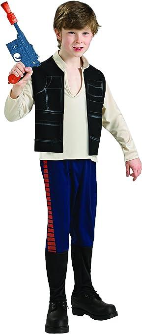 Star Wars - Disfraz de Han Solo para niño, infantil 5-6 años ...