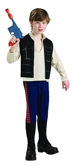 Star Wars - Disfraz de Han Solo para niño, infantil 5-6 años (Rubies 883160-M)