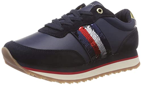 f479098cd Tommy Hilfiger Women s Tommy Sequins Retro Runner Low-Top Sneakers ...