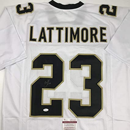 Image Unavailable. Image not available for. Color  Autographed Signed  Marshon Lattimore New Orleans White Football ... 9fe3dbbe6
