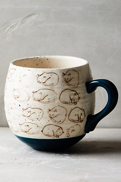 Cat Study Mug - anthropologie.c​om