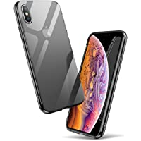 ExpressB® For Apple iPhone Xs Max Case Soft Premium Quality TPU Gel Skin [1.3mm Ultra Thin] Slim Clear Transparent Soft Protective Back Cover for Apple iPhone XS Max Case Cover 6.5'– Transparent Black
