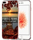 Iphone 7 Plus Case Bible Quotes- Topgraph [Soft Tpu Slim Fit Protective] Apple Iphone 7 Plus Protective Cover Christian Cheap