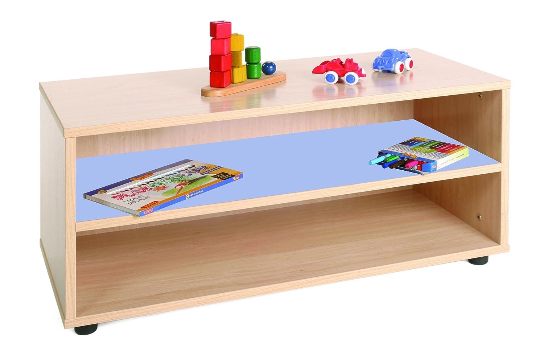 calidad auténtica Mobeduc 600101HP14 - Mueble Infantil superbajo/estantería, Madera, Color Haya Haya Haya y Azul Lavanda, 90 x 40 x 44 cm  seguro de calidad
