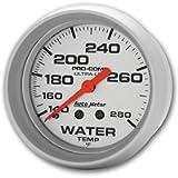 Auto Meter 4431 Ultra-Lite Mechanical Water Temperature Gauge , 2 5/8'
