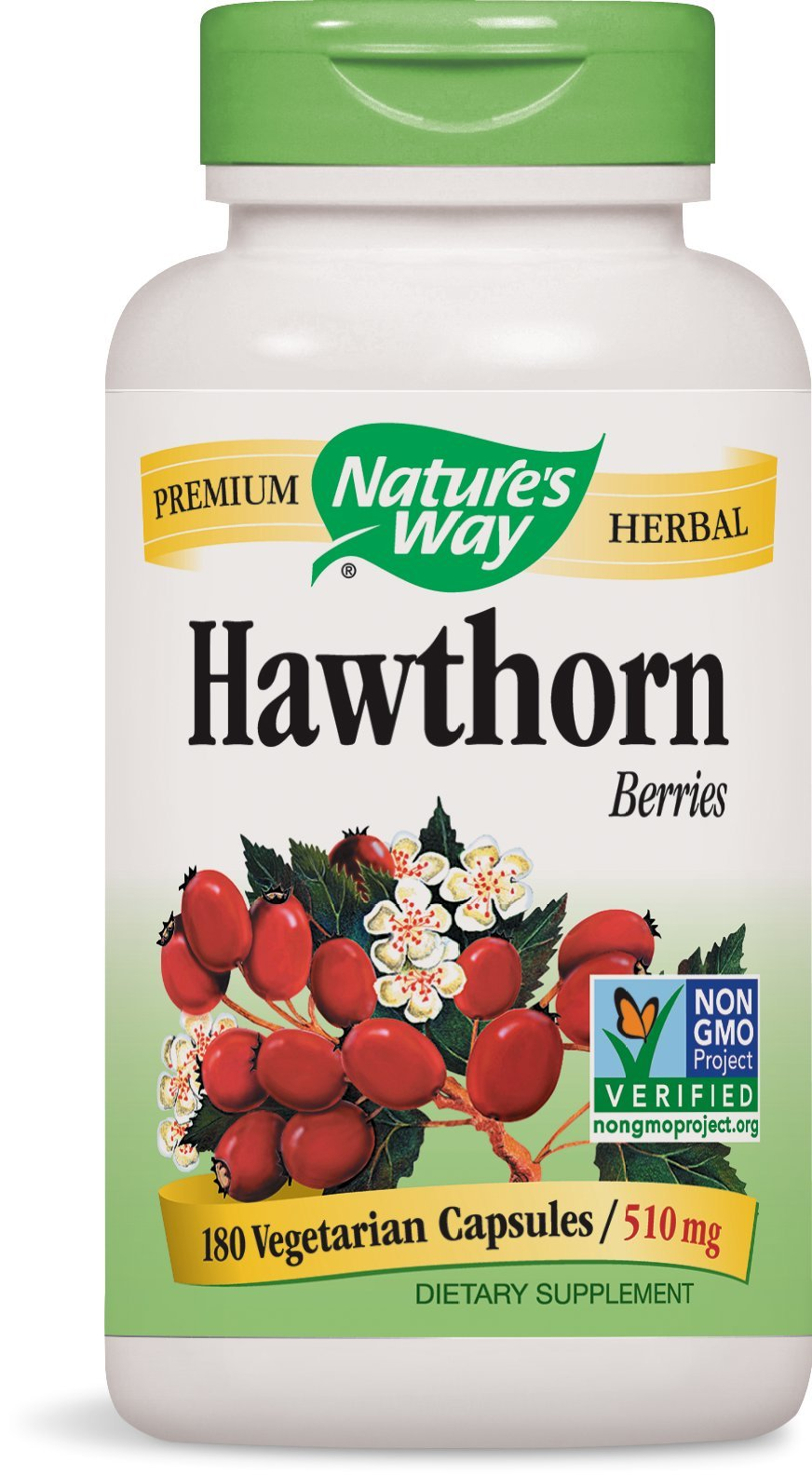 Nature's Way Hawthorn Berries , 510 mg., 180  Veg-capsules