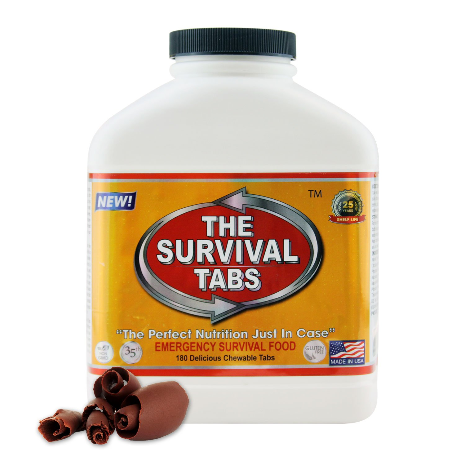 Food To Pack In Earthquake Kit - 15 Days Supply - Chocolate by The Survival Tabs