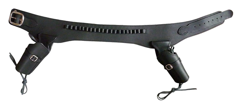 East.A 二丁用ウエスタンガンベルト 牛革製ブラック Mサイズ No.002-M BK B001CLAX62