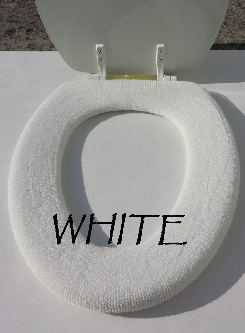 Bathroom Toilet Seat Warmer Cover Washable- White - LifeLong Needs